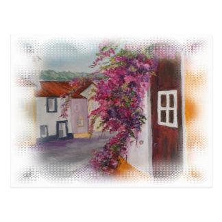 typische Alentejo-Häuser Postkarte