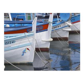 Typische Provencal Fischerboote gemalt in 2 Postkarten