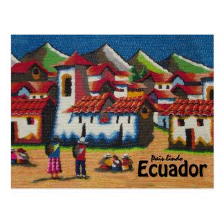 Typische Tapisserie Ecuadors Otavalo Postkarte