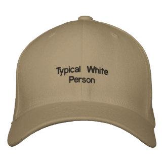 Typische weiße Person Bestickte Kappe