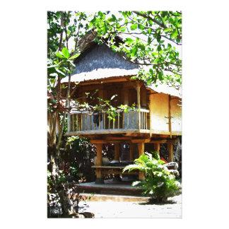 Typisches Bali bungaloo Briefpapier