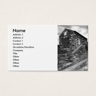 Typisches Basalthaus von den Azoren Visitenkarten