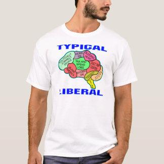Typisches liberales sozialistisches Gehirn T-Shirt