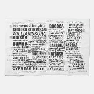 Typografie Calligram Brooklyns New York Handtuch
