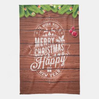 Typografie der frohen Weihnachten und des guten Handtuch