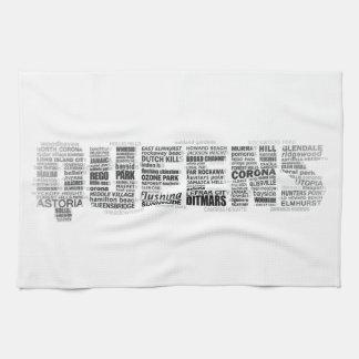 Typografie-Geschirrtuch des Queens-New York Küchentuch