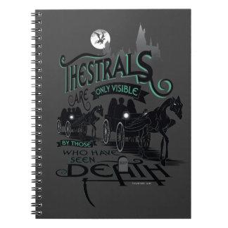 Typografie-Grafik Harry Potters   Thestrals Spiral Notizblock