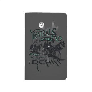 Typografie-Grafik Harry Potters   Thestrals Taschennotizbuch