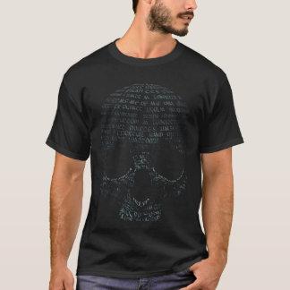 Typografieschädel T-Shirt