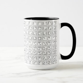 Typografische Tasse