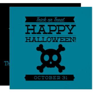 Typografisches Retro Halloween Karte