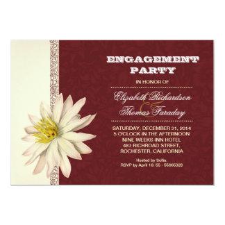 typografisches Verlobungs-Party laden ein 12,7 X 17,8 Cm Einladungskarte