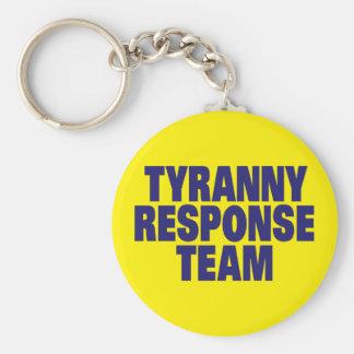 Tyrannei-Warteteam Standard Runder Schlüsselanhänger