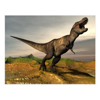 Tyrannosaurus rex Dinosaurier - 3D übertragen Postkarte
