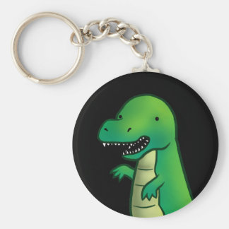 Tyrannosaurus Rex Dinosaurier-Cartoon Standard Runder Schlüsselanhänger