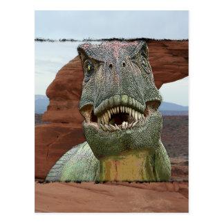 Tyrannosaurus Rex Dinosaurier Postkarte