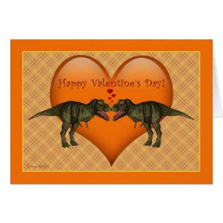Tyrannosaurus Rex Dinosaurier-Valentinstag-Karte Karte