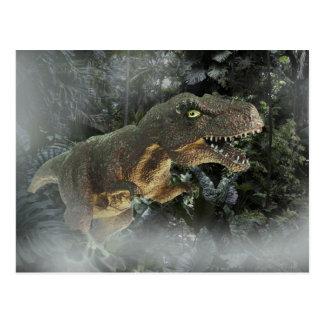 Tyrannosaurus Rex im Dschungel Postkarte