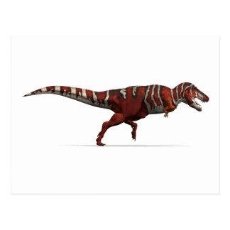 Tyrannosaurus rex in Rotem, im Weiß und im Postkarte