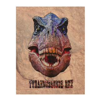 Tyrannosaurus Rex König Of Predators Holzdruck