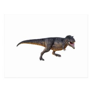 Tyrannosaurus-Rex mit gelbem Farbton Postkarte
