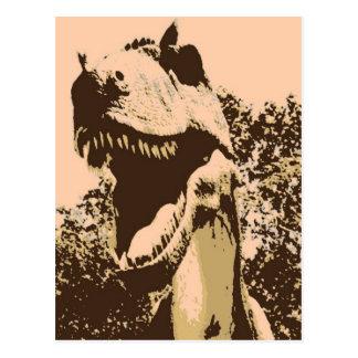 Tyrannosaurus Rex Pop-Kunst Postkarte