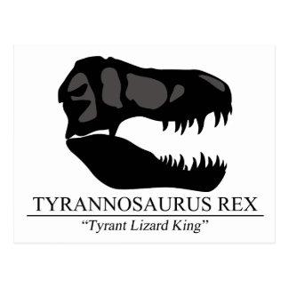 Tyrannosaurus Rex Schädel Postkarte