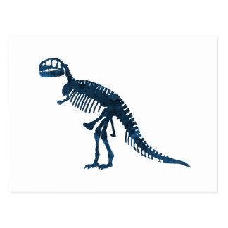Tyrannosaurus Rex Skelett Postkarte