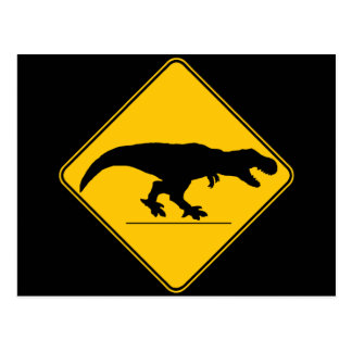 Tyrannosaurus rex Überfahrt Postkarte