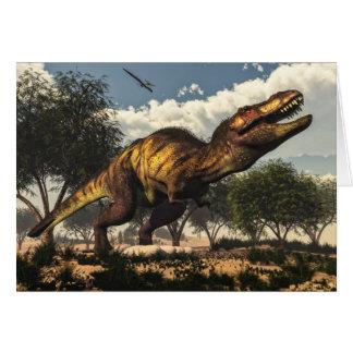 Tyrannosaurus rex und seine Eier Karte