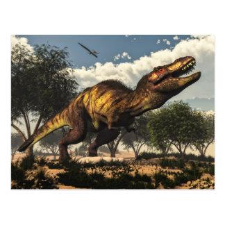 Tyrannosaurus rex und seine Eier Postkarte