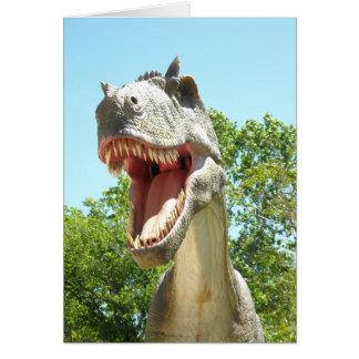 Tyrannosaurus T-Rex Dinosaurier Karte