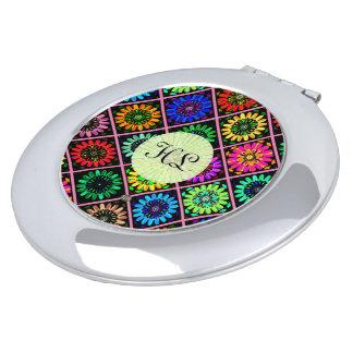 U-Auswahl-Farbleuchtende Einklebebuch-Blumen auf Taschenspiegel