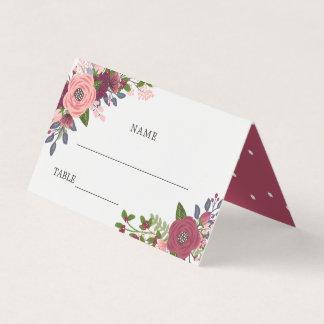 U. erröten Burgunder-Blumen - Namen u. Platzkarte
