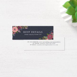 U. erröten Burgunder-Blumen - UAWG-Details Mini Visitenkarte