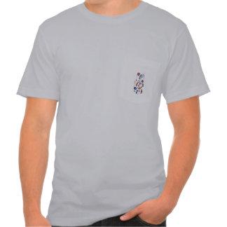 U.K. und USA-Flaggen-musikalische Anmerkungen T Shirts