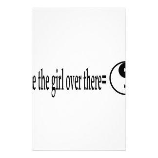U R das Mädchen Briefpapier