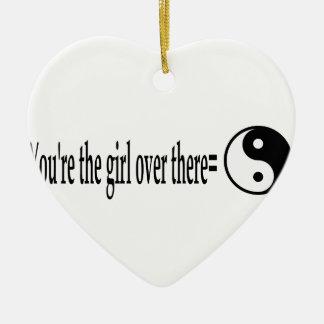 U R das Mädchen Keramik Ornament
