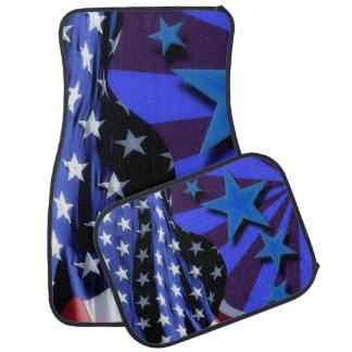 U.S.A. Amerika-Flagge und blaue Sterne Automatte