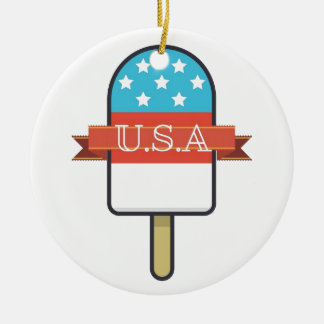 U.S.A. Eis-Lutschbonbon Keramik Ornament
