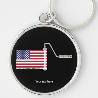 U.S.A. Flaggen-Farben-Rolle Schlüsselanhänger