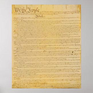 U.S. Konstitutions-Plakat Poster