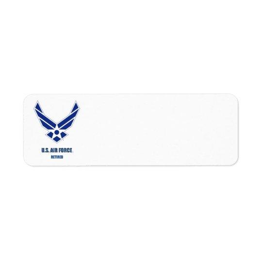U.S. Luftwaffe pensionierter Rücksende Aufkleber