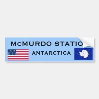 U.S. - McMurdo die Antarktis Autoaufkleber