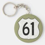 U.S. Signe d'itinéraire de la route 61 Porte-clés