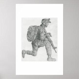 U.S. Soldatstillstehen Poster