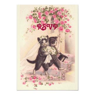 UAWG, das Katzen in der weichen rosa Einladung Karte