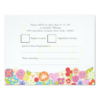 UAWG, das Monogramm-Sommer-Frühlings-Blumen-Karten 10,8 X 14 Cm Einladungskarte