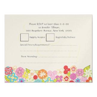 UAWG, das Sommer-Frühlings-Blumen Wedding ist 10,8 X 14 Cm Einladungskarte