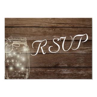 UAWG elegante rustikale Maurer-Glas-Lichter 8,9 X 12,7 Cm Einladungskarte